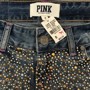 PINK Victoria's Secret Shorts - Sz 0 Pink Victoria's Secret Bling Short shorts NWT